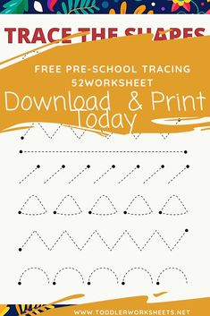 Tracing the shapes worksheet 2 -