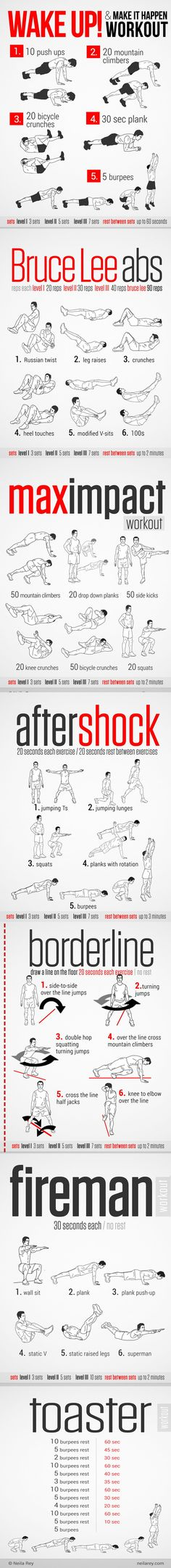 Quick No-equipment Workouts, I think you may need them. also you can download a full pdf book with all details from the link in description
