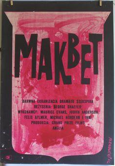 POLISH SCHOOL of cinema posters. 'MACBETH' . Maciej by artwardrobe, $299.99