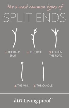 Can you identify the 5 most common types of split ends? #YourBestHair