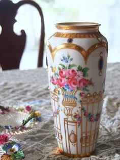 Romantic Roses, Porcelain Vase, Dresden, Clay, China, Tattoo, Luxury, Antiques, Inspiration