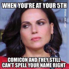 It's PARRILLA. Two R's Two L's #onceuponatime #lana #parrilla #comiccon #doubler #doublel #lifeprobs