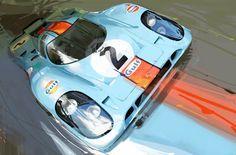 1970 NO. 2 GULF PORSCHE 917 :: John Krsteski