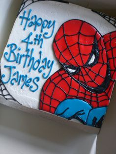 How Make Spiderman Birthday Cake Pictures more at Recipins.com