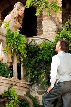 "Letters to Juliet-  Charlie: ""If I had found the woman of my dreams I wouldn't have stood there like and idiot whispering words in the garden. I would have grabbed her from that blasted balcony and been done with it."" -sometimes this movie is just too funny for words."
