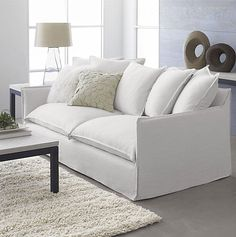 Modern Couch Covers - Home Furniture Design Living Room Remodel, Living Room Sofa, Living Spaces, Modern Couch, Modern Lounge, Sofa Inspiration, Apartment Sofa, Sofa Styling, White Sofas