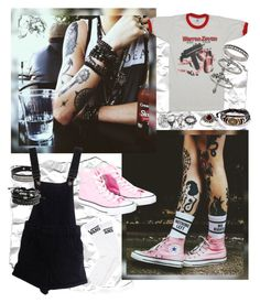 """Pink Remmington"" by skyler-castillo on Polyvore featuring Vans, Pink Box, ASOS, Converse, Amber Sun and Miss Selfridge"