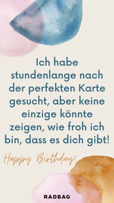 Birthday Quotes, Birthday Wishes, Birthday Gifts, German Words, Wedding Fans, Beautiful Words, Birthdays, Lettering, Soul Sisters