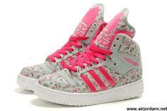 New Girl Adidas X Jeremy Scott Big Tongue Shoes Flower Pink Fashion Shoes Store
