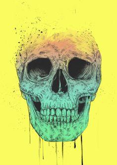 """""""Pop Art Skull"""" by Balazs Solti on Artsider - Print available at http://www.artsider.com/works/34238-pop-art-skull"""