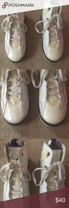 NIKE AIR JORDAN TRUE FLIGHT. SIZE 6Y Lot Of Yellowing and Creases On Sneakers.   Please Read my Listing And view My Pictures before you purchase item. Air Jordan Shoes Sneakers