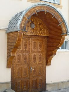 Traditional door, Krasnaya Sloboda, Azerbaijan