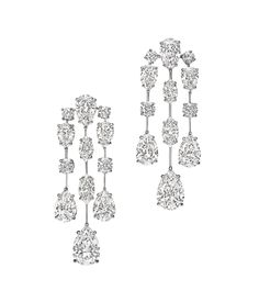 Mrs. Winston Collection by Harry Winston, Diamond Cascading Drop Earrings