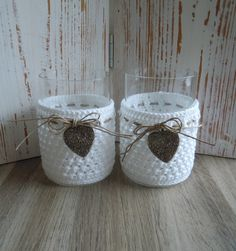 Crochet - Bizzy Bee Klaske Thread Crochet, Diy Crochet, Crochet Stitches, Crochet Baby, Crochet Patterns, Crochet Jar Covers, Crochet Wedding, Crochet Home Decor, Manta Crochet