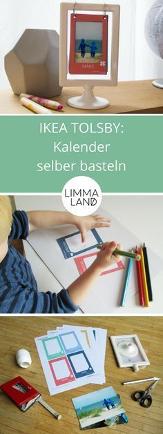 Aus dem IKEA TOLSBY Bilderrahmen könnt ihr mit der kostenlosen Bastelvorlage von Limmaland einen tollen Kalender für das Kinderzimmer oder die ganze Familie basteln - ein toller IKEA Hack, passend zu Weihnachten!