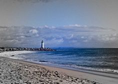 West Jetty, at the northern end of Monterey Bay, Walton Lighthouse.  Santa Cruz Harbor Light by musicmuse_ca