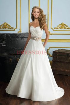 Wedding Gown - love the style & cut without the flowers on the sash