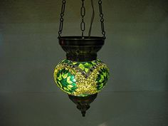 Green moroccan lantern mosaic hanging lamp glass chandelier light lampen candle lamp tealight holder lampada turca lampada turco candle holder Mosaiklampe lampe mosaique Türkische lampen hng 68 handmade_antiques http://www.amazon.com/dp/B01EE1LFBI/ref=cm_sw_r_pi_dp_uS6exb0KV5M25
