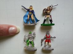 set of four 1980s Grenadier miniature figurines . by GTDesigns, $23.00
