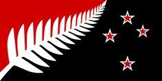 NZ flag design Silver Fern (Black, White & Blue) by Kyle Lockwood - Silver fern flag - Wikipedia Silver Fern, Blue And Silver, Black And White, Maori Legends, Key Tattoos, Maori Tattoos, Skull Tattoos, Foot Tattoos, Tribal Tattoos