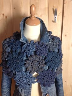 Indigo crochet and coat