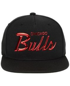 d26998a71409c ... coupon code for mitchell ness chicago bulls metallic tempered snapback  cap black adjustable 511b9 f32f0