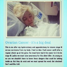 My battle on how  I found out I had ovarian cancer. I posted this to help others in their journey and to make other aware of ovarian cancer. Follow me on Instagram look for #larastrong or Lara Maldonado