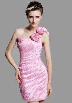 gaine / colonne une épaule court / mini robes de bal de courtes