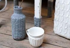 Вязаный декор: утепляем вещи к зиме (20 фото)
