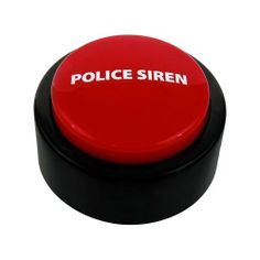 Police Siren Button by CleggPromo. $5.99. Is there an emergency in your office? Get some attention with a push of the Police Siren Button. This familiar alarm is ideal to use in many stressful and urgent situations, including a jammed printer, racing to arrive at a meeting on time, or accidently