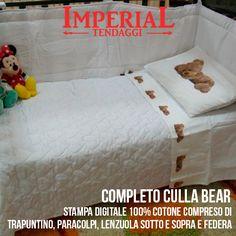 Il posto più bello dove far #sognare il proprio #Bambino  Clicca per guardare le altre foto  http://www.imperialtendaggi.it/eshop/completi-culla/305-completo-culla-bear.html