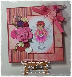 FLORA FAIRY  http://www.whimsystamps.com/index.php?main_page=product_info=13_38_id=2570  Card is by Tracy  http://boo-ba-loo-crafts.blogspot.ca/