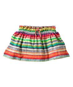 Red & Green Stripe Toulouse Skirt - Toddler & Girls