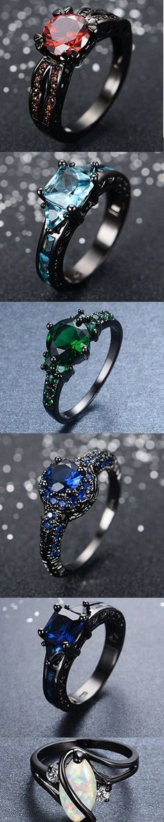 Awesome & Unique Goth / Gothic / steam punk Wedding / Anniversaries & Engagement Rings Set Ideas