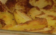 Batata gratinada com queijo ralado