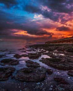 Incoming tide at Hunstanton. Beach Cloud Coast Nature Norfolk Sea Shore Sky Sunset Uk Water