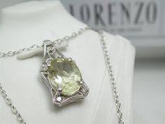 ColoreSG by LORENZO 925 Sterling Silver 14k White Gold Genuine Diamonds Lemon Quartz Necklace #ColoreSG by #LORENZO 925 #Sterling #Silver 14k White #Gold Genuine #Diamonds #Lemon #Quartz #Necklace #jewelry http://randomfindsboutique.com/products/coloresg-by-lorenzo-925-sterling-silver-14k-white-gold-genuine-diamonds-lemon-quartz-necklace