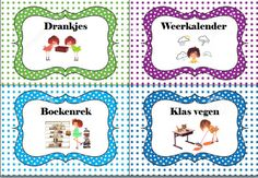 Kaartjes takenbord Schmidt, Classroom, Moldings, Tags, Class Room