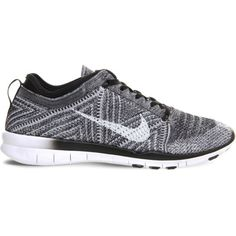 485031055f0d Nike Free Tr Flyknit Black White Wolf Grey - Hers trainers