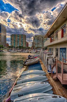 Belmont Harbor, Lake Michigan, Chicago, Illinois