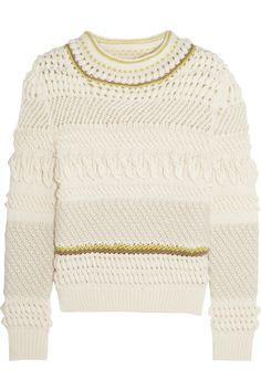 Chloé Textured wool-blend sweater NET-A-PORTER.COM