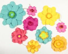 custom paper flower garlands available!
