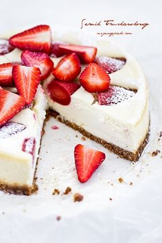 ... strawberry cheesecake ...
