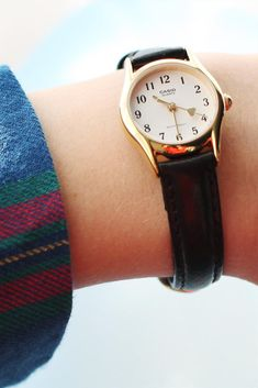 Want the Casio Heart Hand Leather Watch