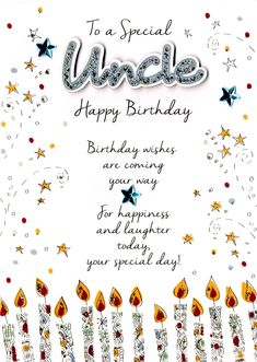 Sparkle happy birthday wishes card for uncle for an uncle who is special uncle birthday greeting card cards love kates m4hsunfo