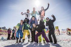 """Egal ob Single, zu Zweit, zu Dritt, zu Viert... sammle auch du in (d)einem Team Punkte und erobert den beliebten Titel """"Conqueror of the Alps"""". Innsbruck, Hip Hop, Challenge, Alps, Skiing, Dots, Don't Care, Hiphop"""