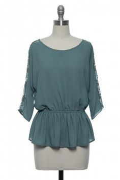 Whisk Me Away Top - this would look great with a bold necklace