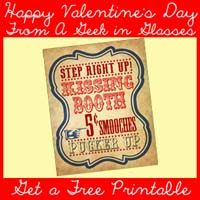 Free Vintage Kissing Booth Printable - A Geek In Glasses fits an 8 x 10 frame.