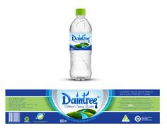 label design by ted181 for australia natural spring water label eco friendly bottle export