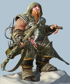 Dwarf ranger.